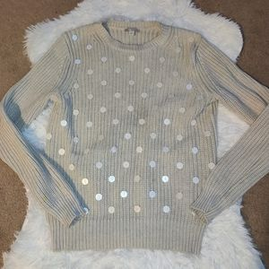 Gap knit sweater with sequin details size M